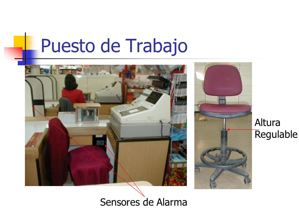 Puesto de Trabajo Altura Regulable Sensores de Alarma