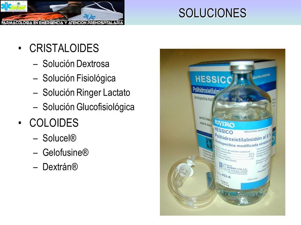 SOLUCIONES CRISTALOIDES COLOIDES Solución Dextrosa