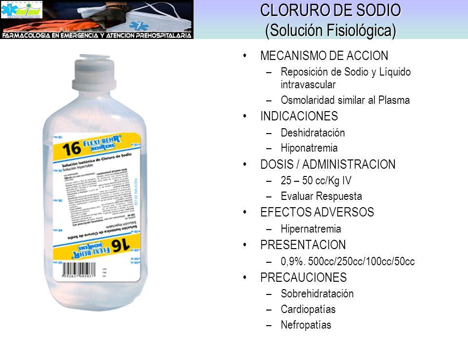 CLORURO DE SODIO (Solución Fisiológica)