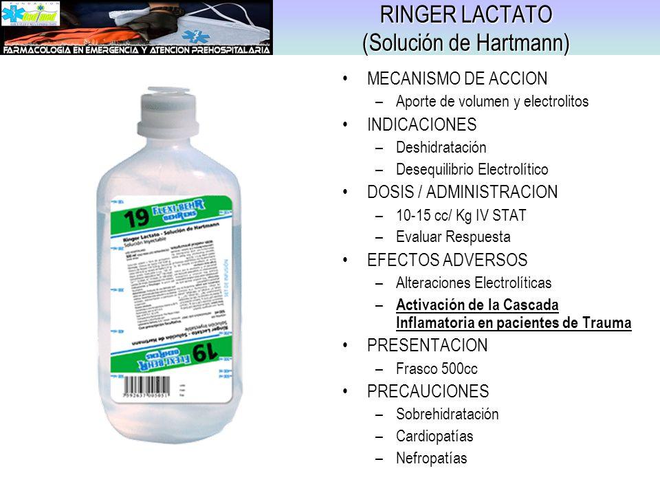 RINGER LACTATO (Solución de Hartmann)