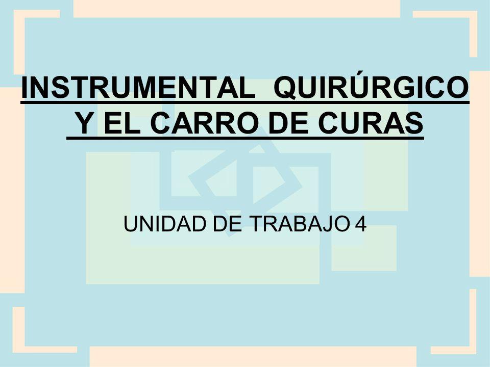 INSTRUMENTAL QUIRÚRGICO Y EL CARRO DE CURAS