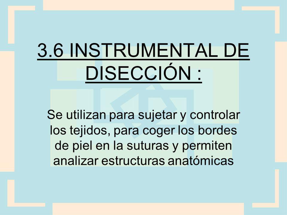 3.6 INSTRUMENTAL DE DISECCIÓN :