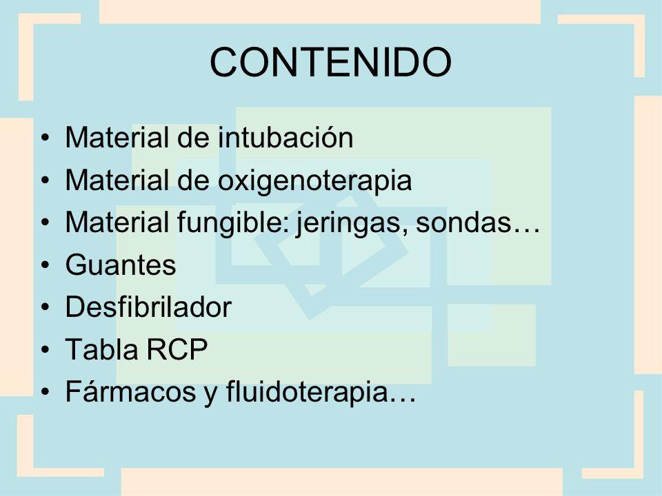 CONTENIDO Material de intubación Material de oxigenoterapia