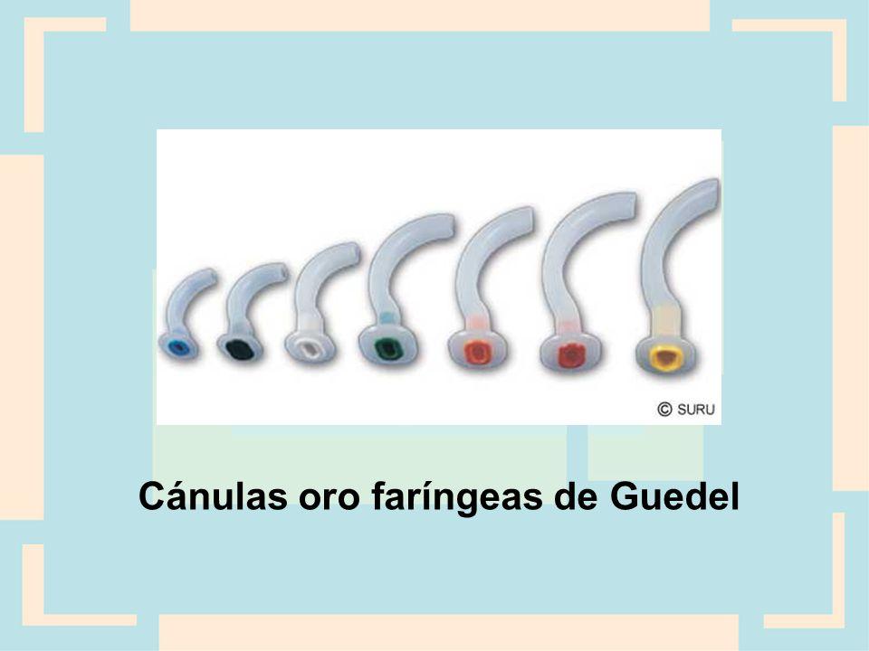 Cánulas oro faríngeas de Guedel
