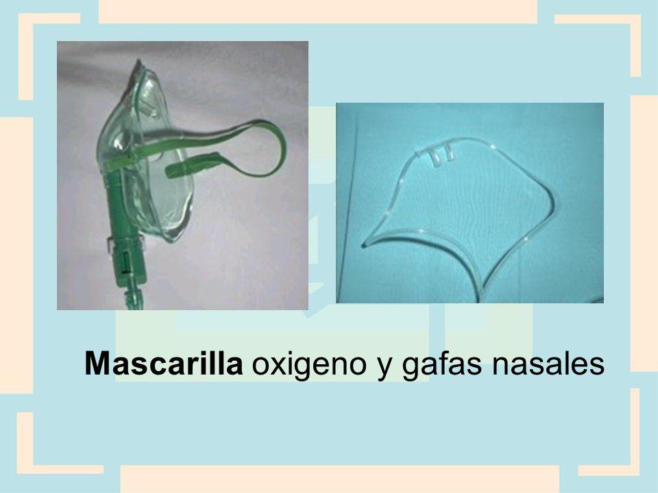 Mascarilla oxigeno y gafas nasales