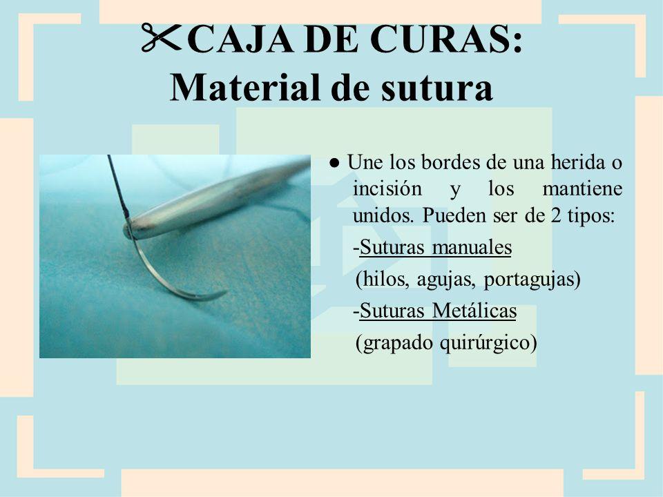 CAJA DE CURAS: Material de sutura