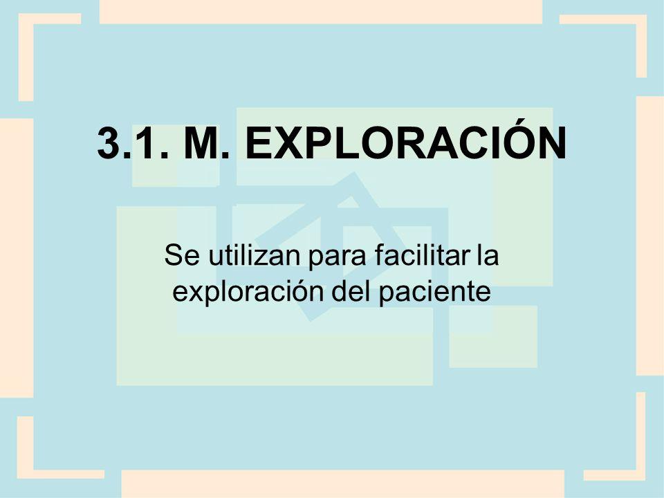 Se utilizan para facilitar la exploración del paciente