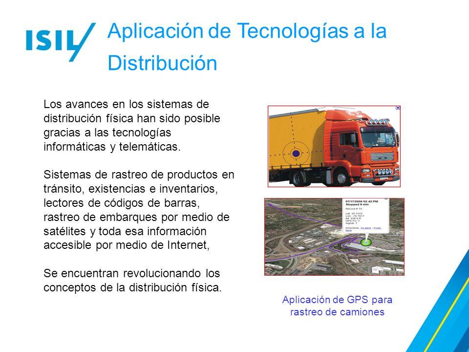 Aplicación de GPS para rastreo de camiones