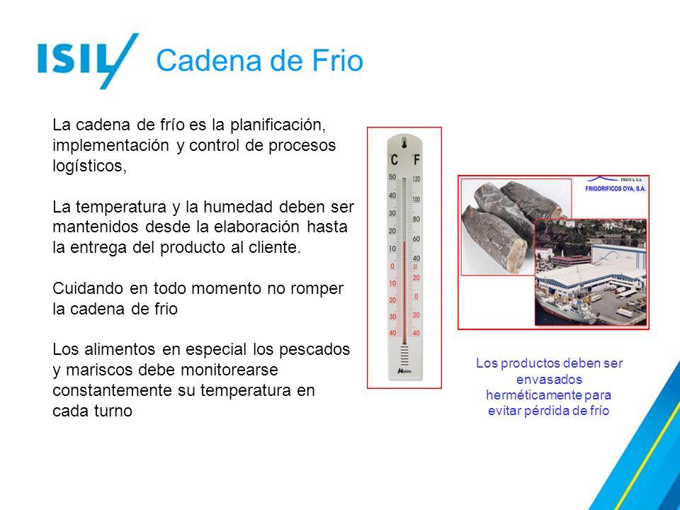 Cadena de Frio La cadena de frío es la planificación, implementación y control de procesos logísticos,