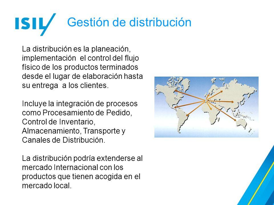 Gestión de distribución