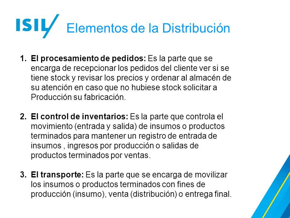 Elementos de la Distribución