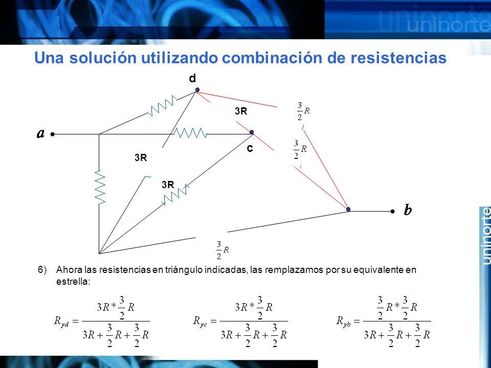 Una solución utilizando combinación de resistencias