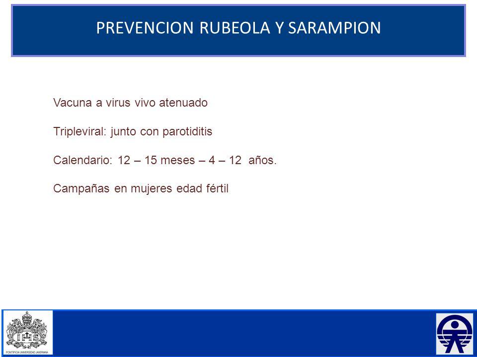 PREVENCION RUBEOLA Y SARAMPION