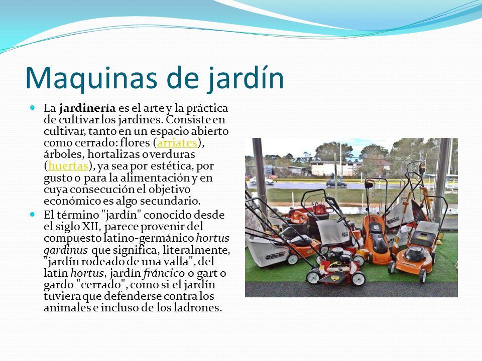 Maquinas una m quina es un conjunto de elementos m viles y for El jardin de la maquina pozuelo