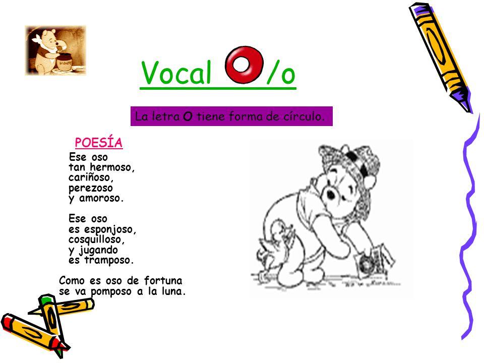 Poesia De Las Vocales: Ana Montero Lozano Educación Infantil