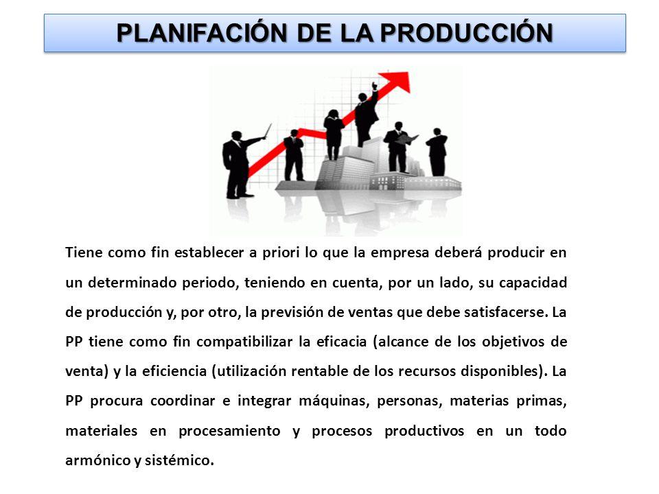 PLANIFACIÓN DE LA PRODUCCIÓN