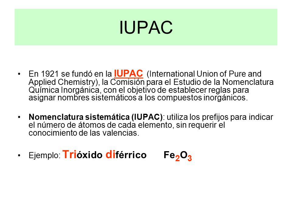 Formulacin qumica ppt video online descargar iupac urtaz Choice Image