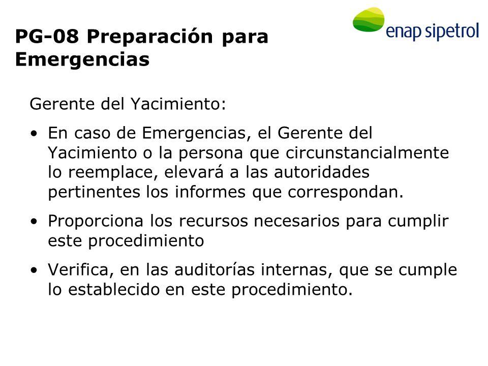 PG-08 Preparación para Emergencias