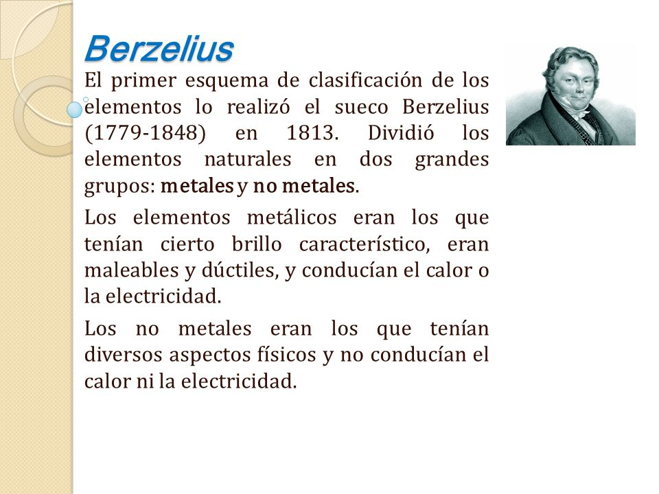 Clasificaciones peridicas iniciales ppt descargar 2 berzelius urtaz Images