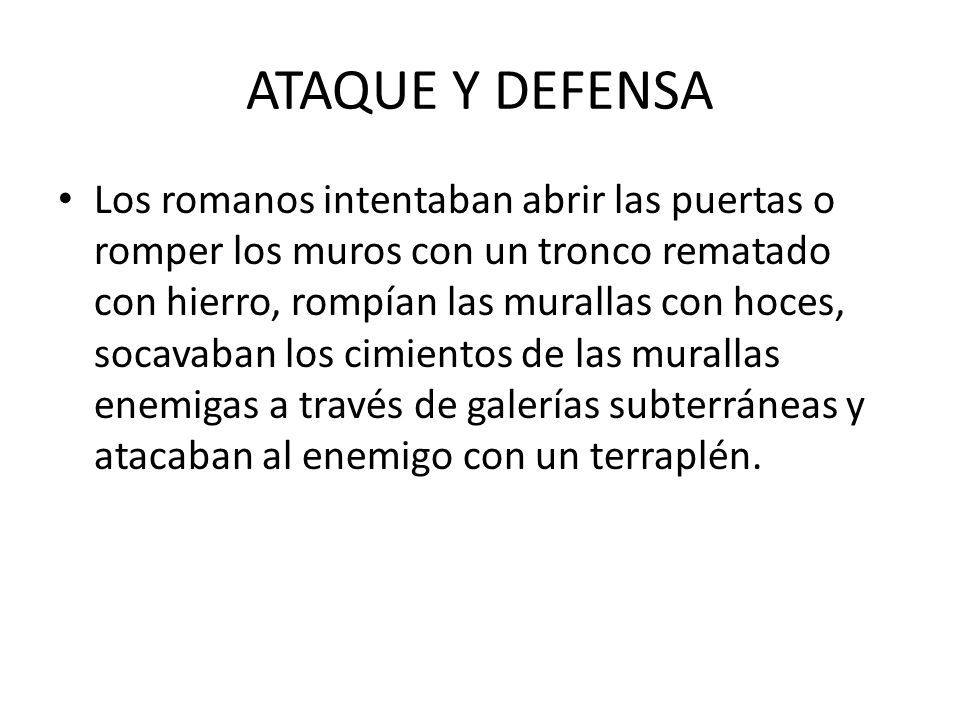 ATAQUE Y DEFENSA