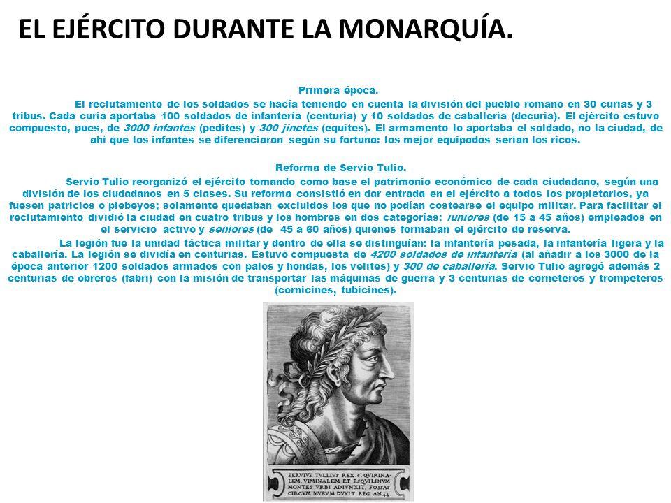 EL EJÉRCITO DURANTE LA MONARQUÍA.
