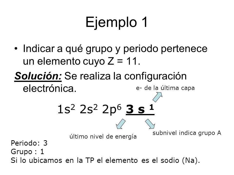 ejemplo 1 indicar a qu grupo y periodo pertenece un elemento cuyo z 11 - Tabla Periodica Sodio Grupo