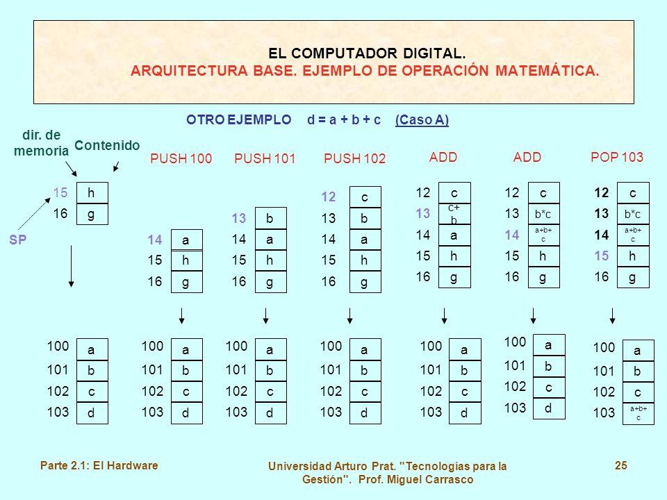 OTRO EJEMPLO d = a + b + c (Caso A)
