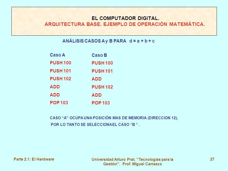 ANÁLISIS CASOS A y B PARA d = a + b + c