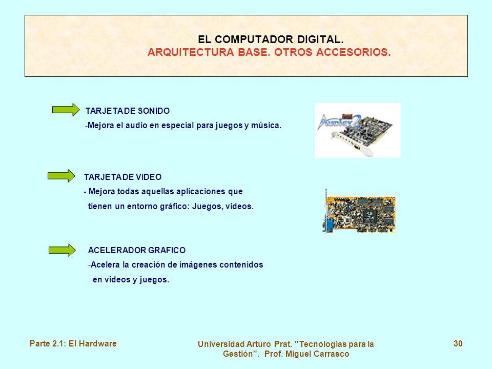 EL COMPUTADOR DIGITAL. ARQUITECTURA BASE. OTROS ACCESORIOS.