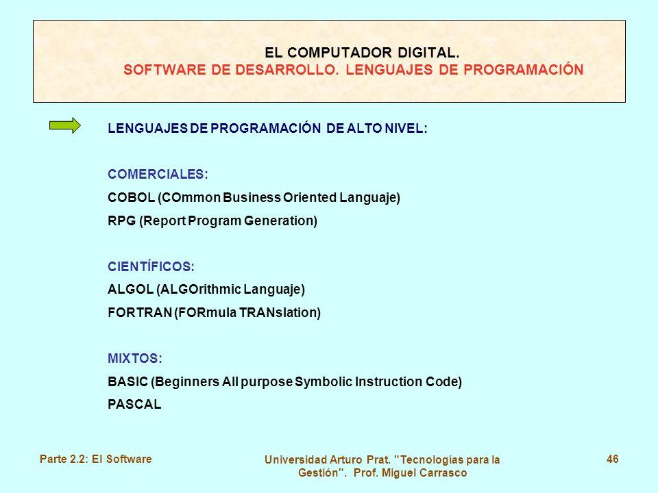 LENGUAJES DE PROGRAMACIÓN DE ALTO NIVEL: