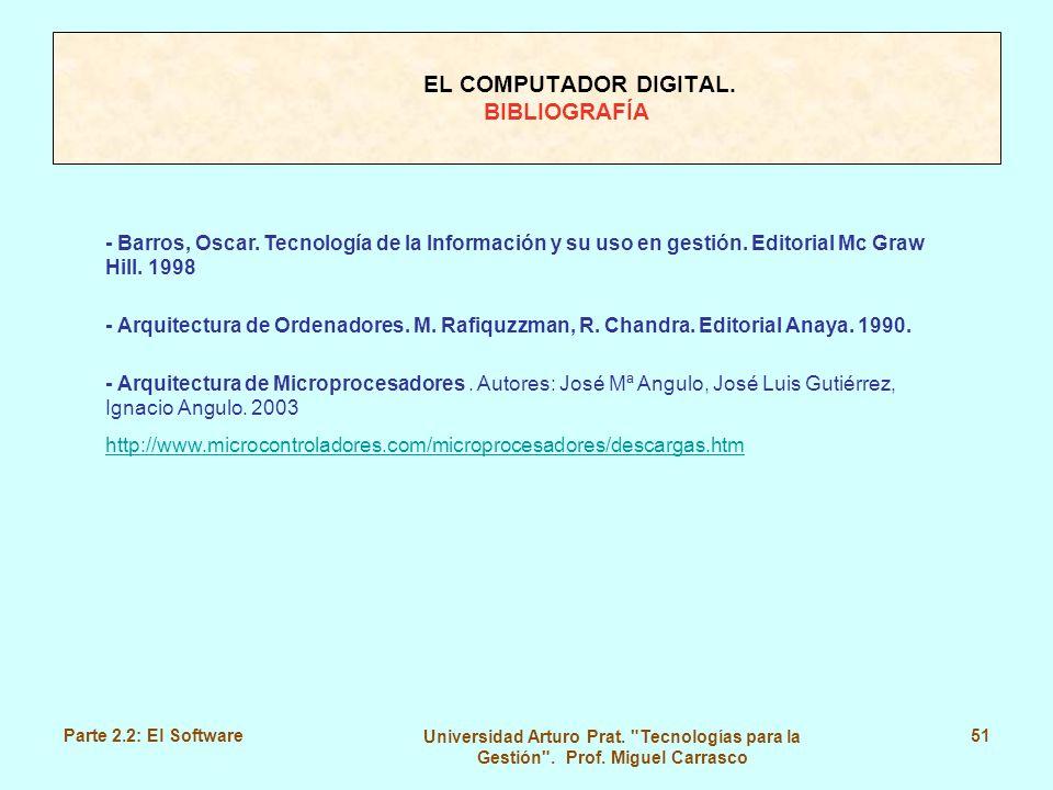 EL COMPUTADOR DIGITAL. BIBLIOGRAFÍA
