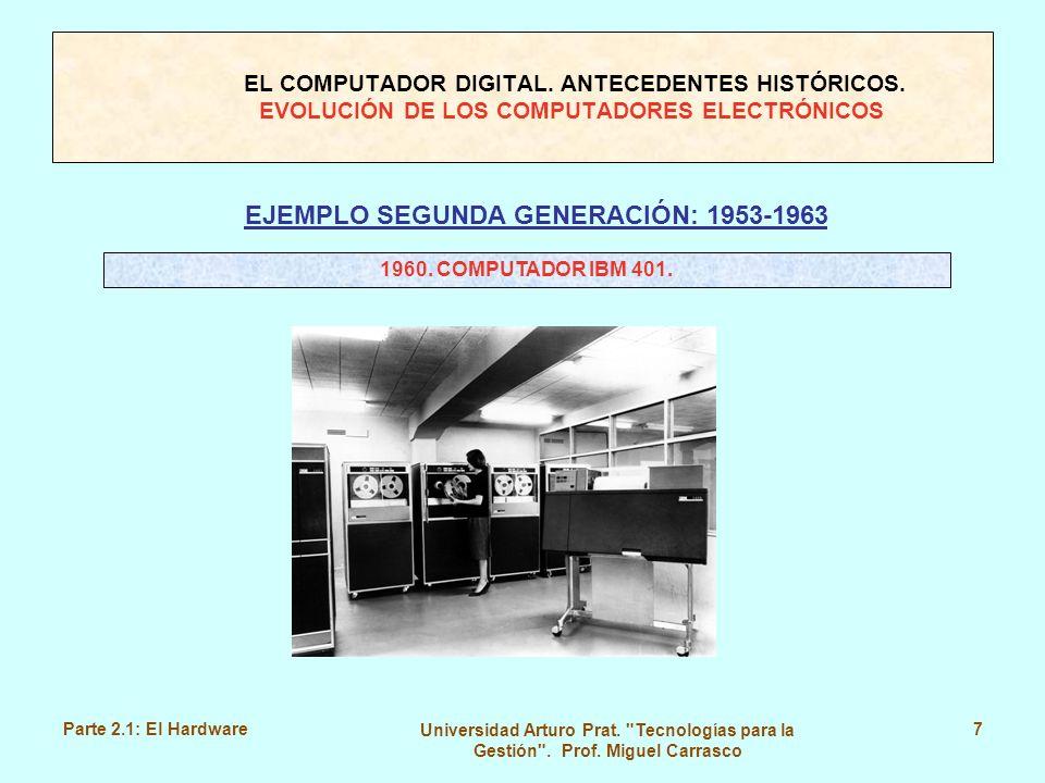 EJEMPLO SEGUNDA GENERACIÓN: 1953-1963