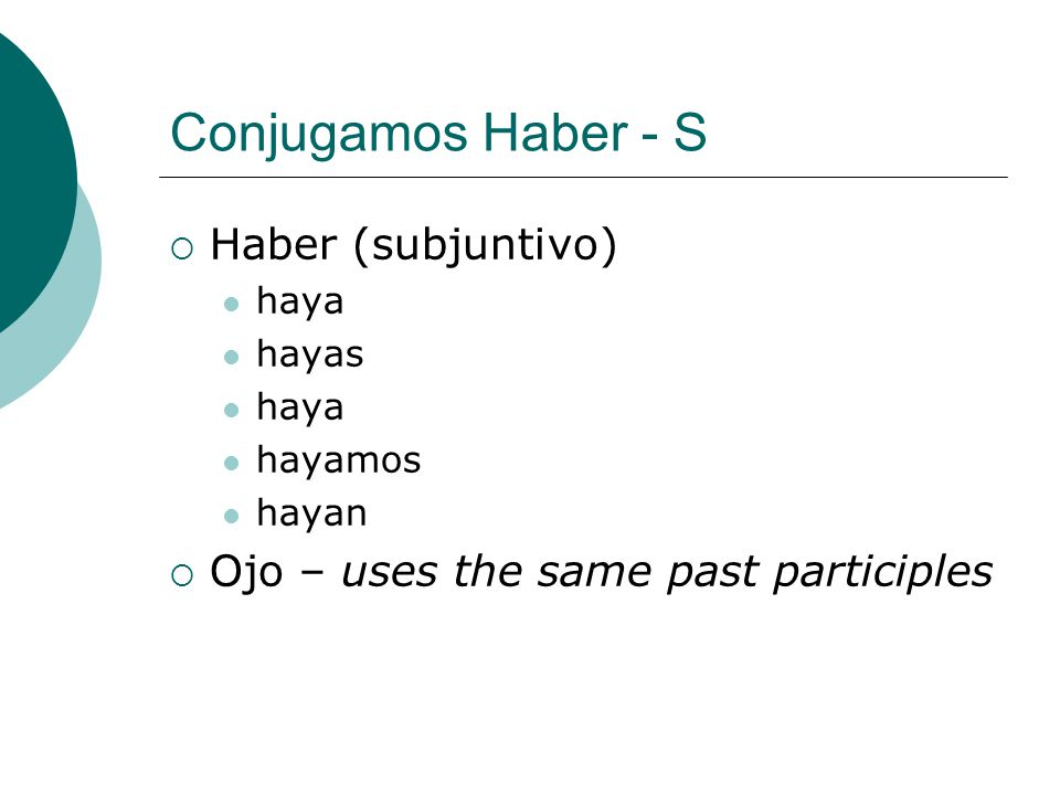 Conjugamos Haber - S Haber (subjuntivo)
