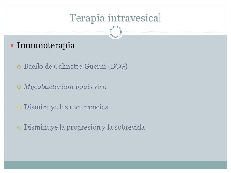 Terapia intravesical Inmunoterapia Bacilo de Calmette-Guerin (BCG)