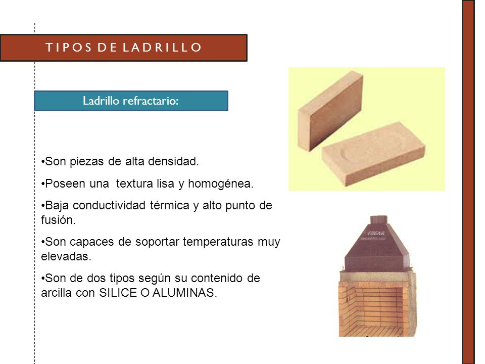 Tipos y caracteristicas de los ladrillos ppt video - Tipos de ladrillos ...