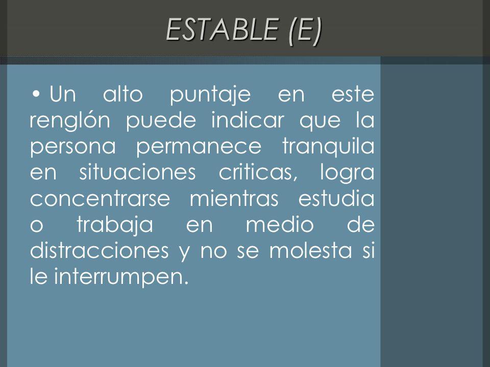 ESTABLE (E)