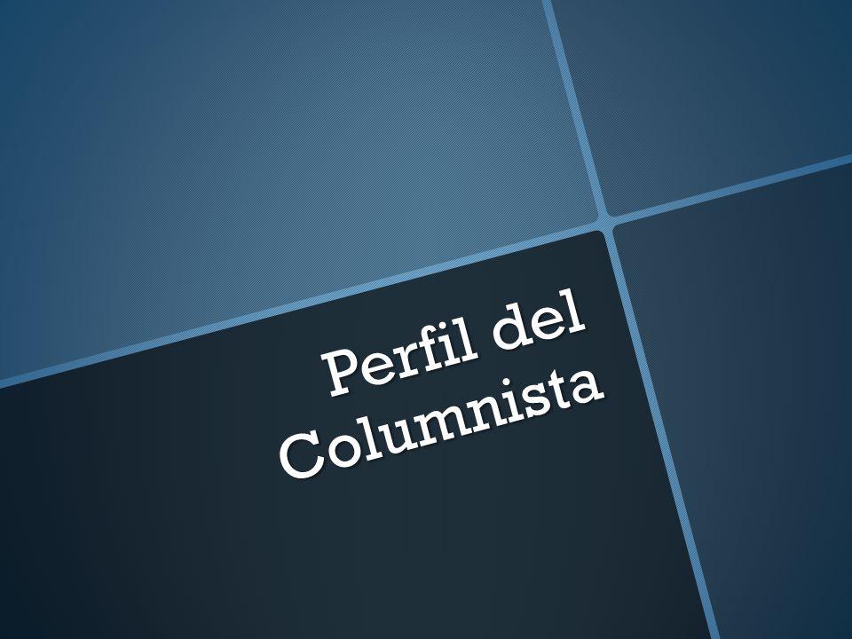 Perfil del Columnista