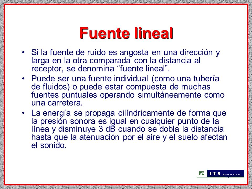 Fuente lineal