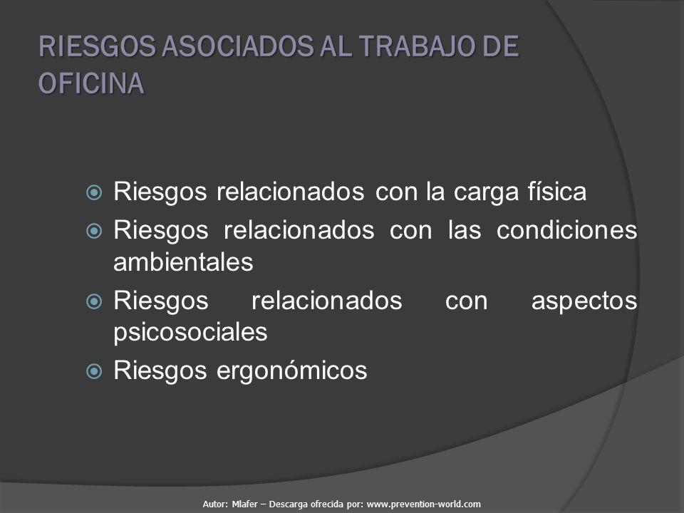 RIESGOS ASOCIADOS AL TRABAJO DE OFICINA
