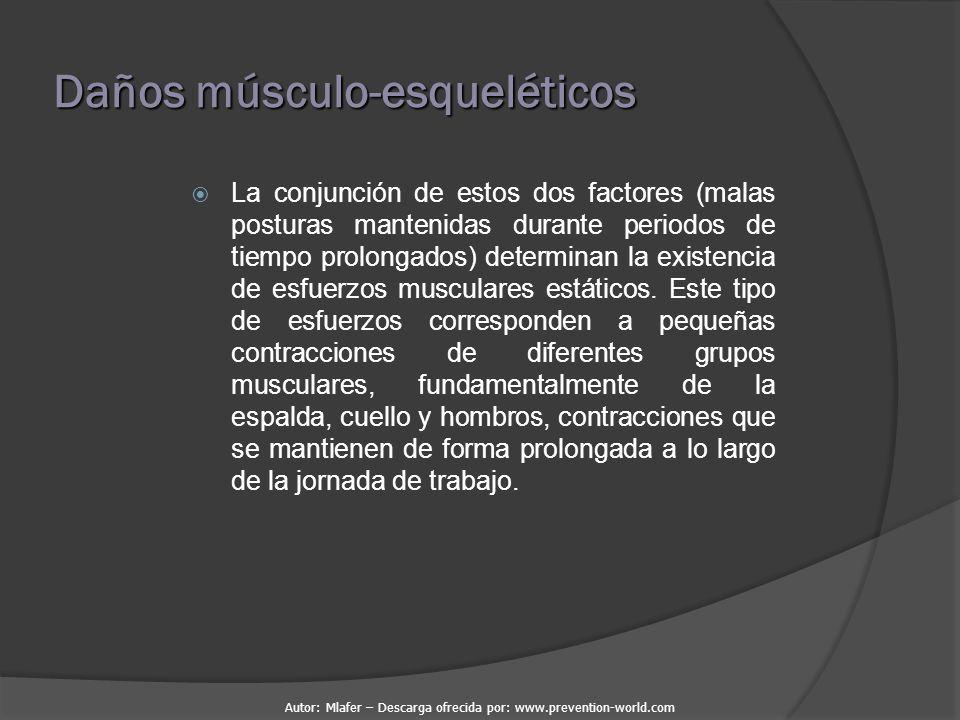 Daños músculo-esqueléticos