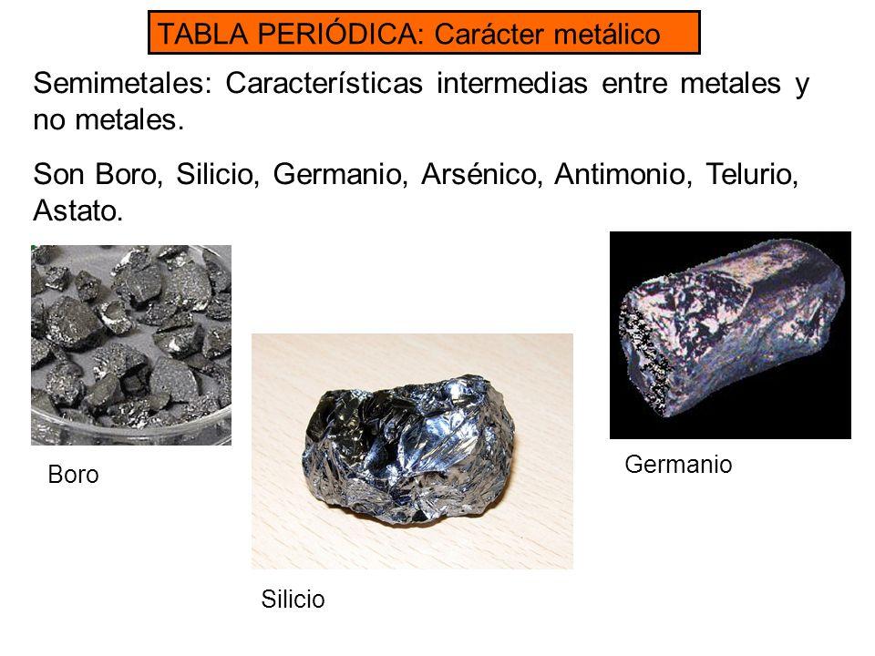 Tabla peridica modelos atmicos ppt video online descargar 26 semimetales caractersticas urtaz Gallery
