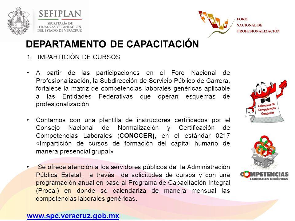 DEPARTAMENTO DE CAPACITACIÓN
