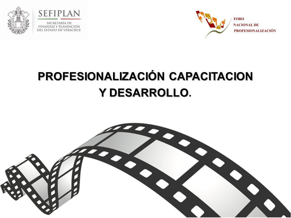 PROFESIONALIZACIÓN CAPACITACION Y DESARROLLO.