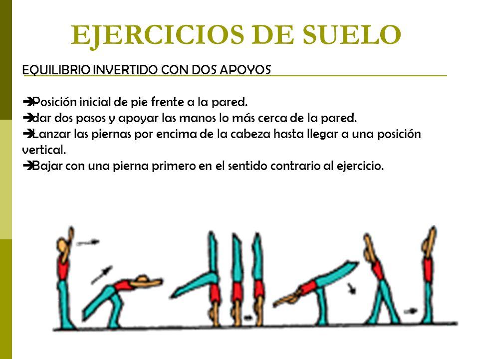 EJERCICIOS DE SUELO EQUILIBRIO INVERTIDO CON DOS APOYOS