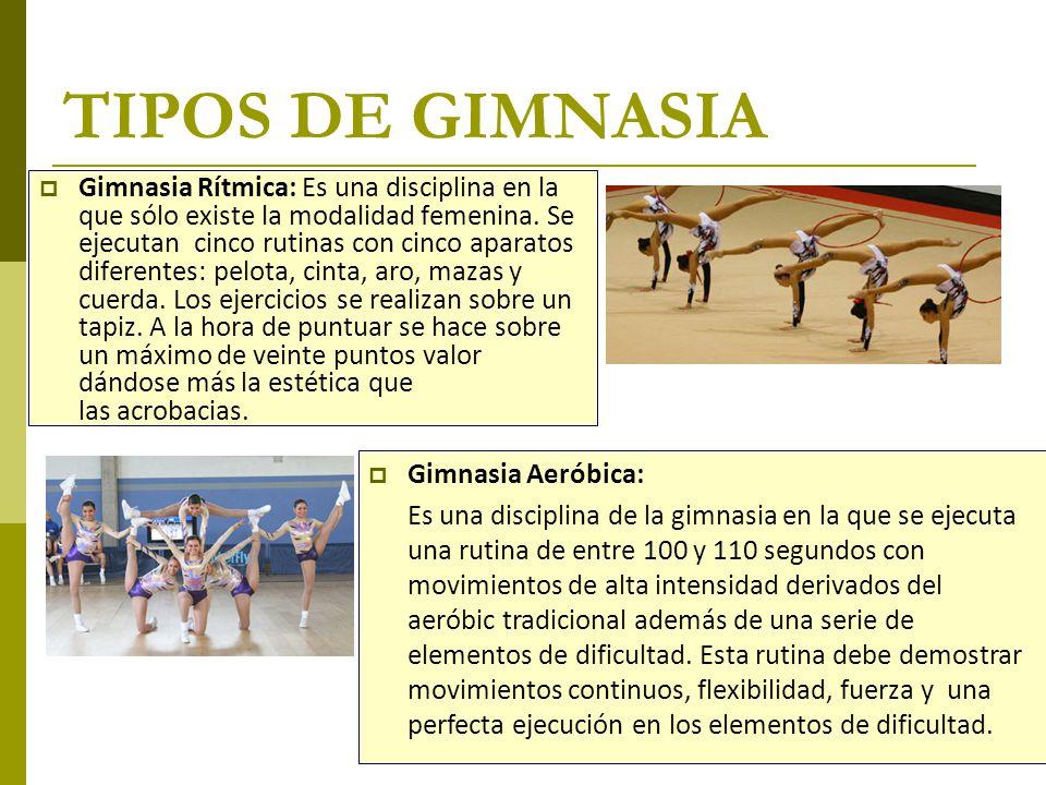 TIPOS DE GIMNASIA