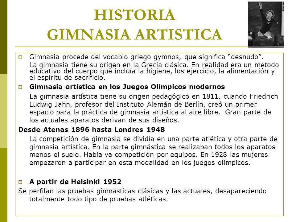 HISTORIA GIMNASIA ARTISTICA