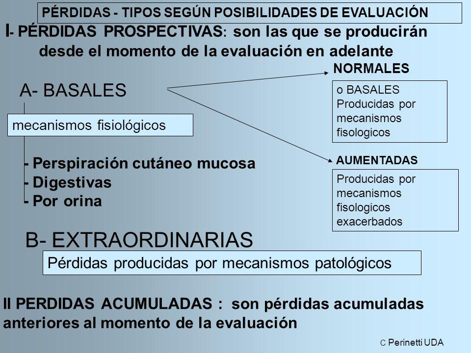 PÉRDIDAS - TIPOS SEGÚN POSIBILIDADES DE EVALUACIÓN