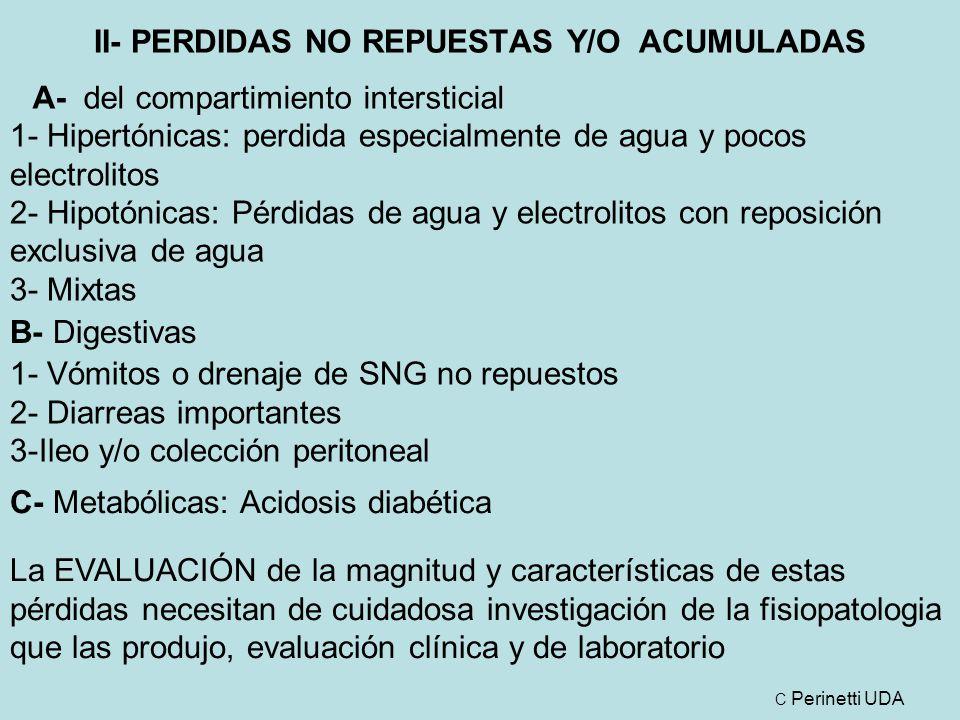 II- PERDIDAS NO REPUESTAS Y/O ACUMULADAS