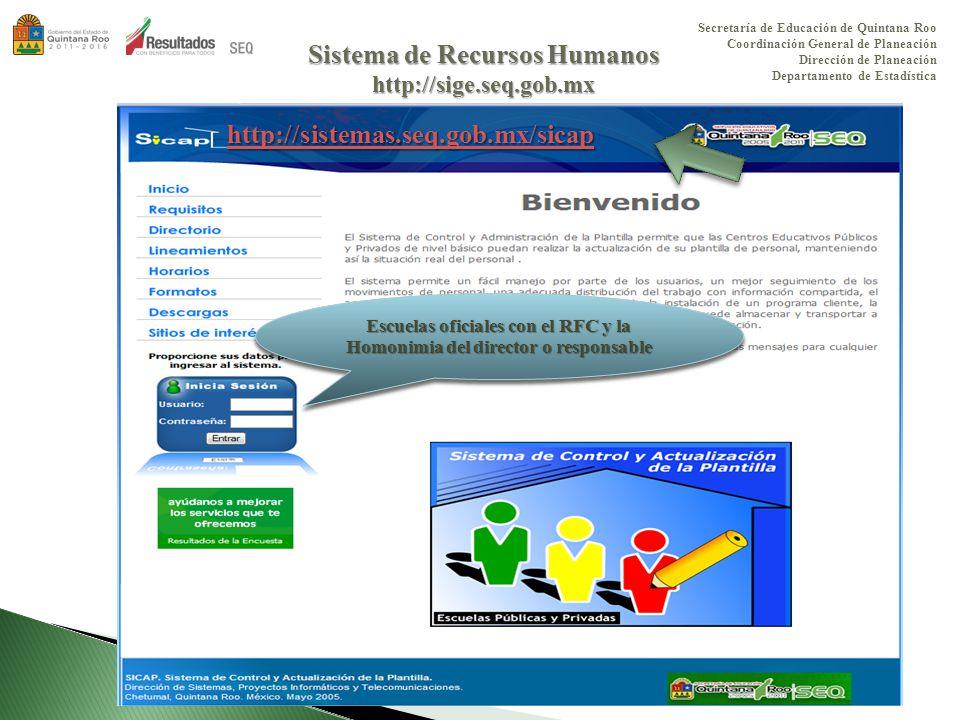 Secretaría de Educación de Quintana Roo Departamento de ...