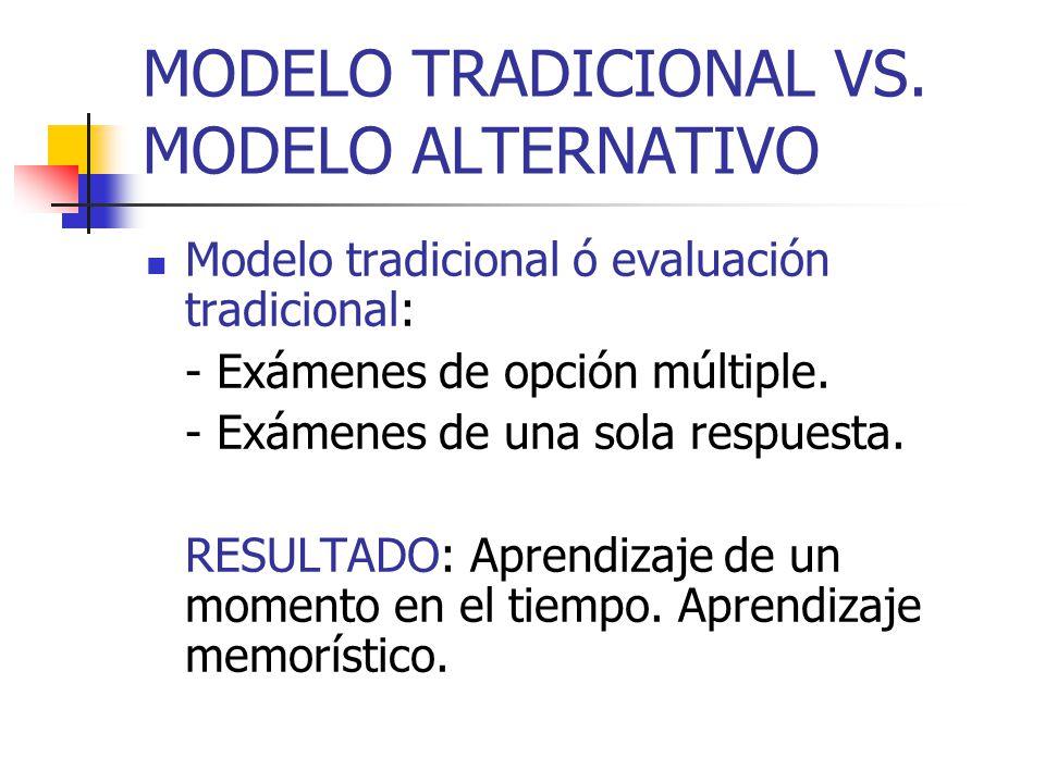MODELO TRADICIONAL VS. MODELO ALTERNATIVO